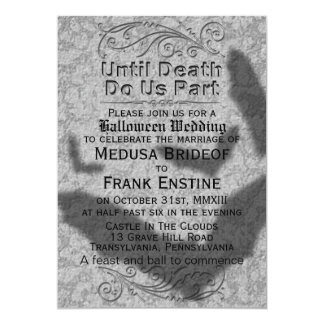 Gothic Halloween Wedding | Flying Bats Shadow Card