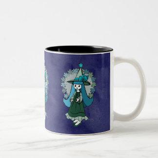 Gothic Halloween Witch Two-Tone Coffee Mug