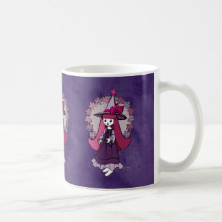 Gothic Halloween Witch Classic White Coffee Mug