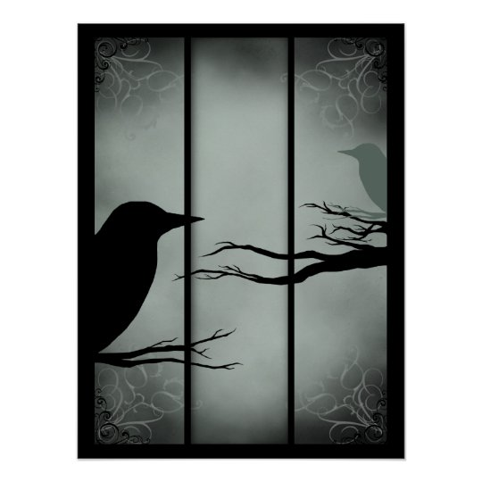 Gothic Haunted Forest - Reversed Poster