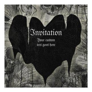 Gothic Heart 13 Cm X 13 Cm Square Invitation Card