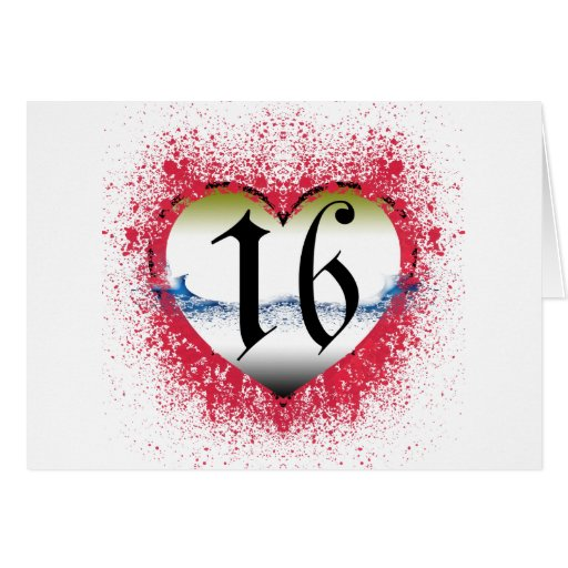 Gothic Heart 16th Cards