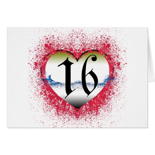 Gothic Heart 16th Greeting Card