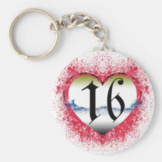 Gothic Heart 16th Key Ring