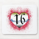 Gothic Heart 16th Mouse Pad