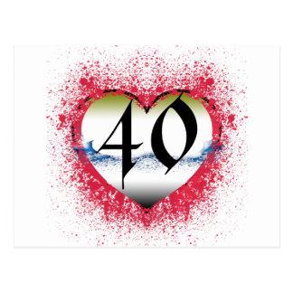 Gothic Heart 40th Postcard