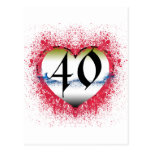 Gothic Heart 40th Postcards