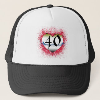 Gothic Heart 40th Trucker Hat