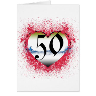 Gothic Heart 50th Greeting Card