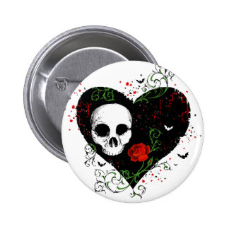 Gothic heart button
