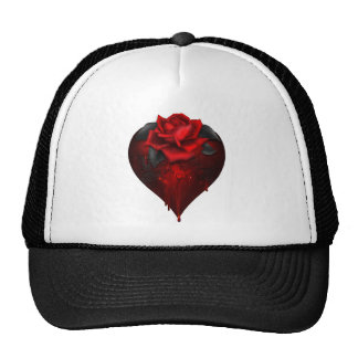 Gothic Heart Mesh Hats