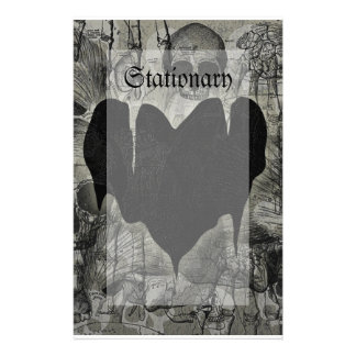 Gothic Heart Stationery