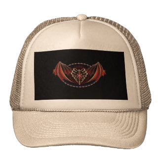 Gothic Heart With Wings Tattoo Design Cap