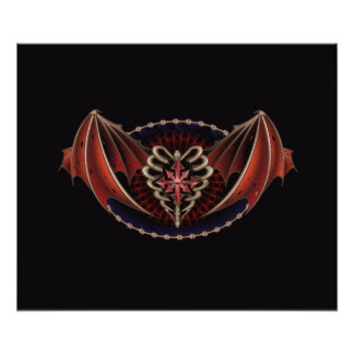 Gothic Heart With Wings Tattoo Design Photo
