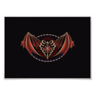 Gothic Heart With Wings Tattoo Design Photo Art