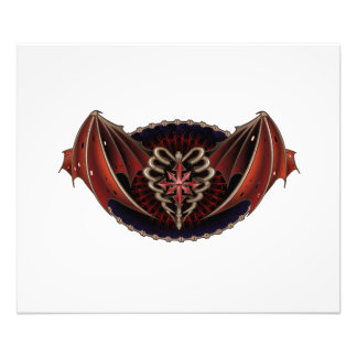 Gothic Heart With Wings Tattoo Design Art Photo