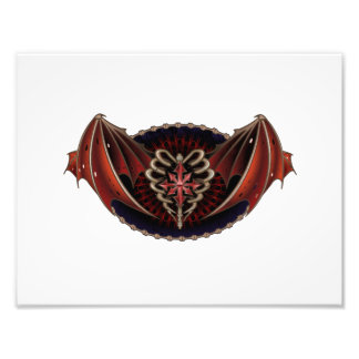 Gothic Heart With Wings Tattoo Design Photographic Print