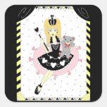 Gothic Hearts Princess Square Sticker