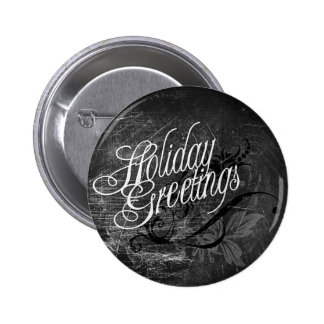Gothic Holiday Greetings 6 Cm Round Badge