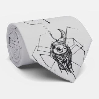Gothic horror cyclops spider tie