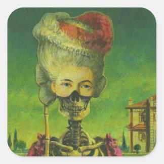 Gothic Horror Skeleton Sticker