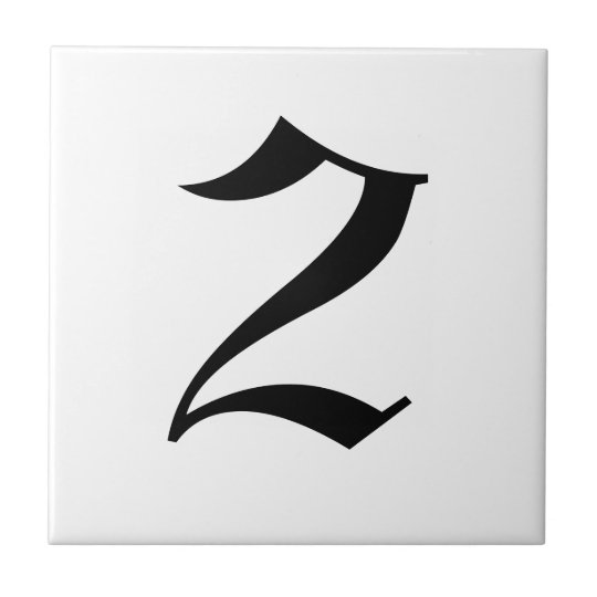 Gothic house number tiles