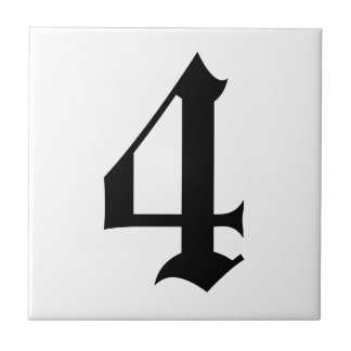 Gothic house number tiles 2