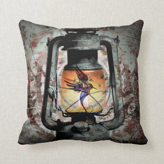 Gothic Hummingbird Lantern Cushion