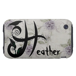 'Gothic Initial H' Tough iPhone 3 Covers