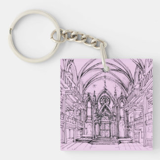 Gothic interior Orensanz Double-Sided Square Acrylic Key Ring
