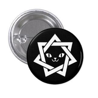 Gothic Kawaii Cat Face Star 3 Cm Round Badge