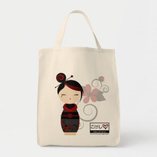 Gothic Kokeshi Grocery Tote