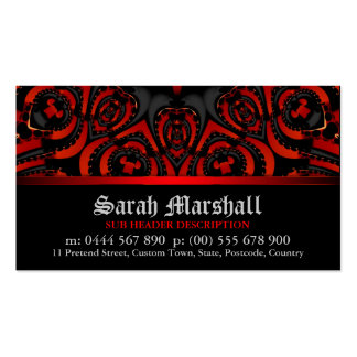 Gothic Leatheria Red+Black w/ Logo Business Card