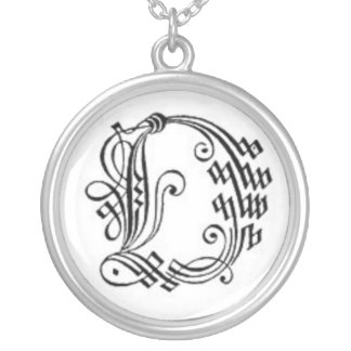 Gothic Letter O Necklace