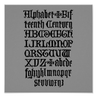 Gothic Letters Poster