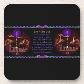 Gothic Libra zodiac astrology by Valxart.com Beverage Coaster