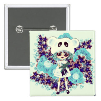 Gothic Lolita child ice Princess PinkyP - why sad? 15 Cm Square Badge