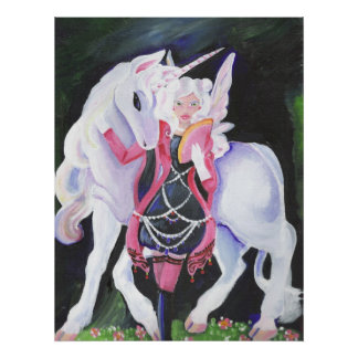 Gothic-Lolita Faerie and Unicorn Print