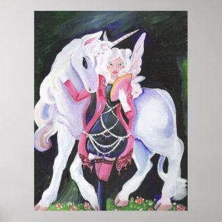 Gothic-Lolita Faerie and Unicorn Print