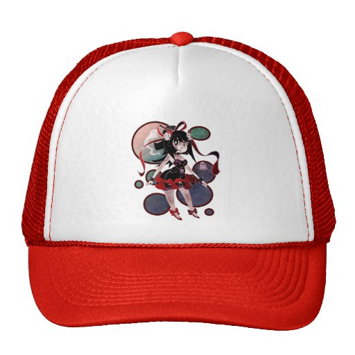 Gothic Lolita Girl Circles Hat