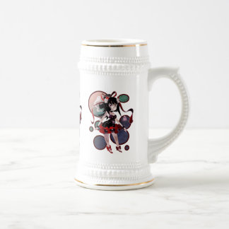 Gothic Lolita Girl Circles Mugs