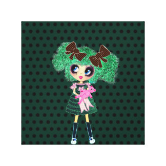 Gothic Lolita girl emerald girly gifts Canvas Print