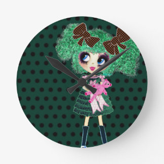 Gothic Lolita girl emerald girly gifts Wallclocks