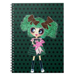Gothic Lolita girl emerald girly gifts Spiral Notebook