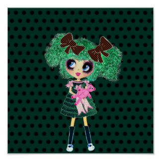 Gothic Lolita girl emerald girly gifts Poster