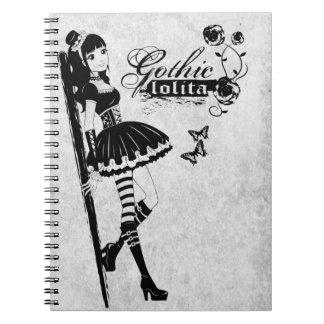 Gothic lolita notebook