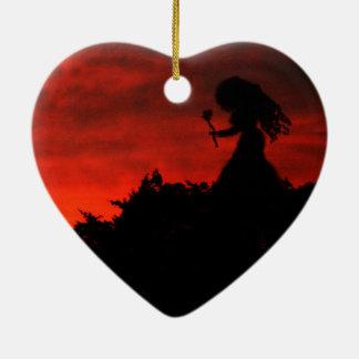 Gothic Love Fairy Ceramic Heart Decoration