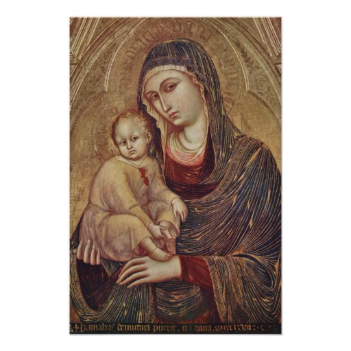 Gothic Madonna and Child poster