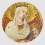 Gothic Madonna and Child stickers