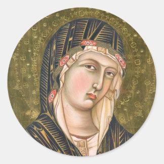Gothic Madonna Round Sticker